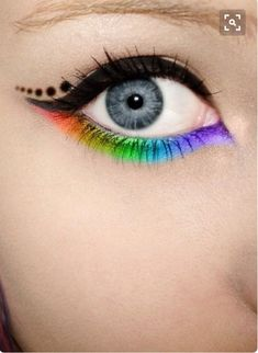 Neon festival eyes make up