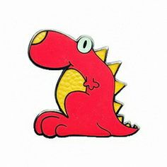 Geocaching lapel pin: BRoKeN W 2008, red and yellow