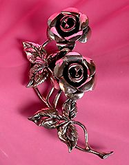 Antique rose brooch