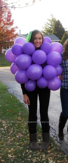 super cute and easy grape costume for halloween. Black Bedroom Furniture Sets. Home Design Ideas