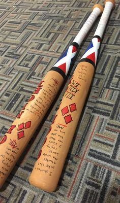 Suicide Squad Cosplay Safe Harley Quinn Faux Wooden Baseball Bat (Plastic Bat)