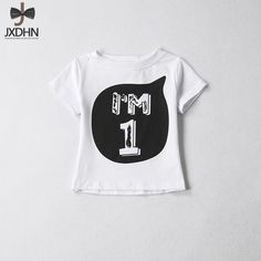 9ce5dc5b0 Girls Designer Kids 2018 Teenage Girls Tops Baby Brand Cotton 12 Years little  girl Birthday Tee Boys White Summer Kid T-Shirt