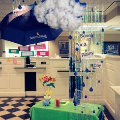 Canton, GA branch decorated for Financial Literacy Month.