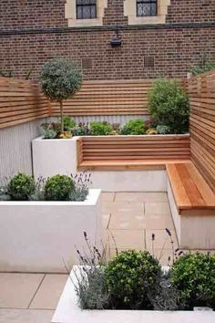 This is a very small, narrow garden designed by Caroline Garland, London Garden Designer. The owners wanted a light, contemporary & low maintenance garden. Back Gardens, Small Gardens, Outdoor Gardens, Outdoor Patios, Outdoor Rooms, Outdoor Living, Modern Garden Design, Contemporary Garden, Landscape Design