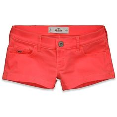 Hollister Co New Jetty Shorts (84 BRL) ❤ liked on Polyvore featuring shorts, bottoms, pants, short, cuffed shorts, vintage shorts, cotton shorts, cut-off i short shorts