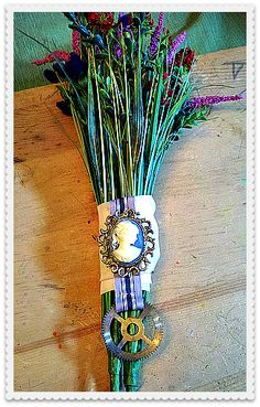 steampunk bouquets   DIY Steampunk Wedding Bouquet   bohemianromance