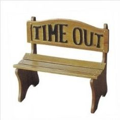 TIME OUT  A period of time in a quiet 'time out' spot/step/mat for a toddler or young child who has misbehaved. Really useful from aged 3 years...