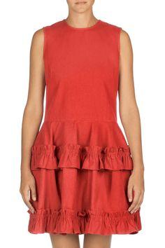 The Perfect Present: SR510 Dress in Red. #JBRANDxSimoneRocha