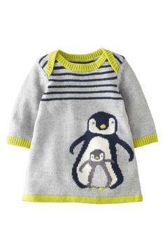 Mama + baby penguin sweater