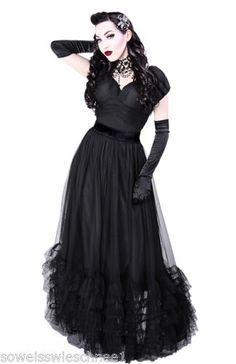 Restyle-Vintage-Victorian-Kleid-Gothic-Lolita-50s-Dress-Retro-Barock-Tuell-R17