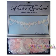 Bridal Shower Flower and Hearts Garland (1ct) || Hard To Find Party Supplies