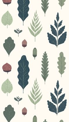 Muse — Any wallpapers recommendations? Plant Wallpaper, Nature Wallpaper, Iphone Wallpaper, Illustration Inspiration, Plant Illustration, Surface Pattern Design, Pattern Art, Design Textile, Whatsapp Wallpaper