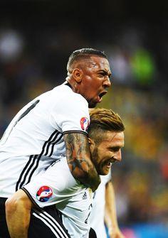 Jerome and Mustafi German National Team, Football Is Life, Baseball Cards, Sports, Football Soccer, Hs Sports, Sport