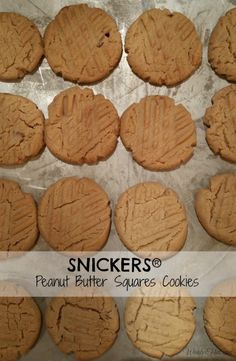 SNICKERS Peanut Butter Squares Cookies #ad #WhenImHungry