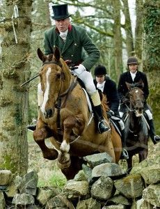 A handsomely dressed foxhunting gentleman... green if convenient!