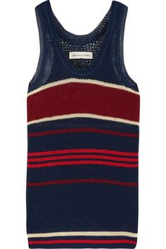 Étoile Isabel Marant - Dully Striped Open-knit Tank - Storm blue - FR34