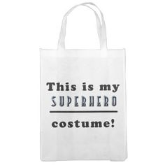 #Superhero Costume Reusable Grocery Bag - #Halloween #happyhalloween #festival #party #holiday