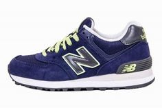 Joes New Balance 574 WL574NVT Navy Green Womens Shoes