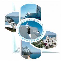 Bleu et blanc à Santorin | Scrapbooking européen