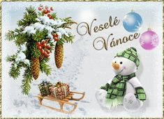 Gify Nena Merry Christmas, Christmas Gifts, Christmas Ornaments, Place Cards, Gif 2, Place Card Holders, European Countries, Czech Republic, Holiday Decor