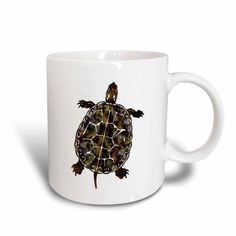3dRose Cute Turtle, Ceramic Mug, 15-ounce