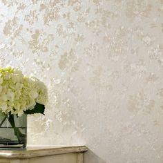 Floral Silk Cream Shimmer Wallpaper by Graham & Brown