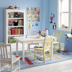 The Land of Nod | Medium Activity Table w/Paper Roller (White) in Play Tables & Chairs