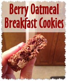 Healthy Berry Oatmeal Breakfast Cookies