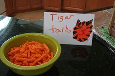 zoo birthday party snacks food