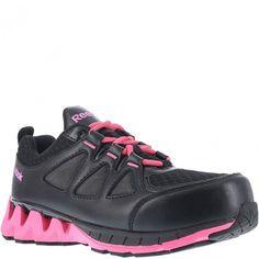 ebf782a8a0244 RB330 Reebok Women s ZIG Safety Shoes - Black Pink www.bootbay.com Toe