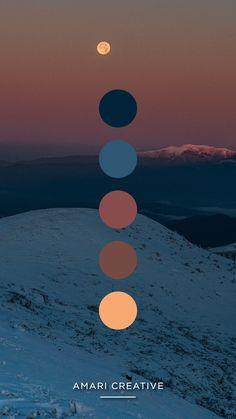 Earth Colour Palette, Sunset Color Palette, Sunrise Colors, Create Color Palette, Colour Pallette, Colour Schemes, Soothing Paint Colors, Mountain Sunset, Color Kit