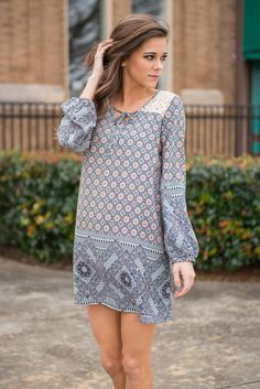 """""""Mix It Up A Bit Dress, Navy"""" 