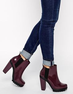 Melissa+Soldier+Heeled+Chelsea+Boots