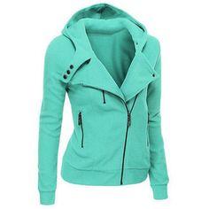 Women Ladies Hooded Jacket Long Sleeve Hoodies Sweatshirts Zip jackets for female Outerwear