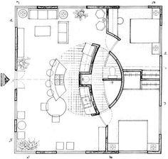 School Floor Plan, Apartment Floor Plans, Round House, Coworking Space, Architecture Details, Art School, House Plans, Plan Design, How To Plan
