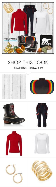 """""""Kick Up the Leaves (Stylishly) With SOREL: CONTEST ENTRY"""" by art-gives-me-life ❤ liked on Polyvore featuring NLXL, Sarah's Bag, SOREL, Dsquared2, Valentino, Nordstrom, Jennifer Zeuner and sorelstyle"""