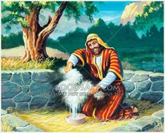 Gideon rings a bowl-full of water out of a wet fleece - a miraculous answer from God. Image Review, Christian Pictures, Old Testament, Judges, Buy Prints, Miraculous, Victorious, Curriculum, Avatar