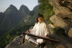 Guqin performance by Master Xuanzhen wudangmartialarts.com