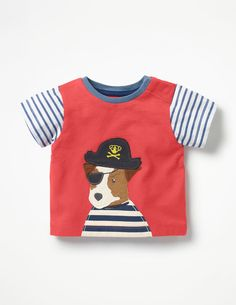 various sizes ex Mini Boden animal friends jersey top