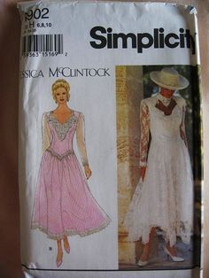 Simplicity Misses Formal Evening Lace Dress Sewing Pattern 8902 Womens Size 6 8 10 Uncut UC FF