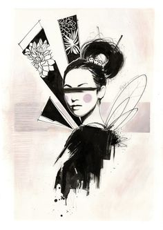 fine artistic geisha art   Geisha Art Print by Miss Sita   Society6