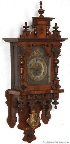 Gustav Becker Spring Driven Wall Clock – LOT 154 Estimate: $400 – $600                                                                                                                                                                                 More