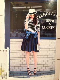 コーデ。ZARAボーダーT×チュールスカート♡ の画像|ayaオフィシャルブログ「男の子ママの毎日コーデ♥」Powered by Ameba