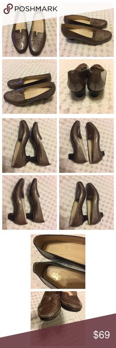 """SAS women's Sonyo This SAS 👠 is designed to fit the shape of your feet. Has comfort cushions for all day support. Size 9N # H4849589. Color is Taupe. Preowned but rarely used. Heel is appx 2"""". No hold and No Trade. SAS Shoes Flats & Loafers"""