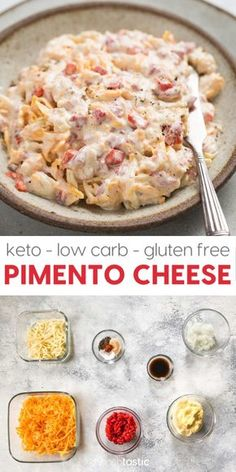 Pimento Cheese, a classic southern cheese dip the whole family will love! it's keto, low carb and gluten free, perfect for game day! Homemade Pimento Cheese, Pimento Cheese Recipes, Keto Cheese, Cheese Appetizers, No Carb Recipes, Healthy Diet Recipes, Snack Recipes, Keto Snacks, Free Recipes