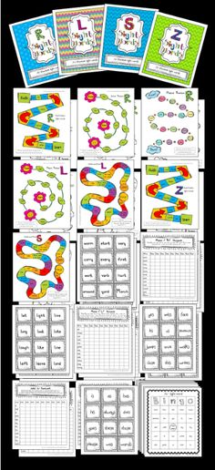 Bundle for Speech Therapy Articulation sets using Sight Words. /r/, /l/, /s/, & /z/. Games, Homework, data sheets, and flash cards. 56 pages.