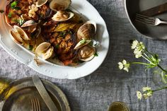 Steamed Clams with Grilled Bread recipe on Food52