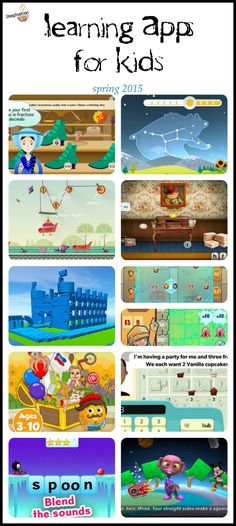 some of these look fun! New learning apps for kids spring 2015