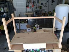 Free and easy DIY plans for how to build a flip top vanity with a hinged top. This great looking DIY vanity is functional and easily conceals all the mess. Ikea Hacks Makeup Vanity, Rustic Makeup Vanity, Diy Makeup Vanity Plans, Diy Makeup Vanity Table, Make Up Desk Vanity, Ikea Vanity, Vanity Ideas, Vanity Set, Homemade Vanity