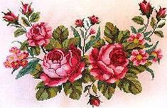 This Pin was discovered by Zey Cross Stitch Tree, Beaded Cross Stitch, Cross Stitch Flowers, Cross Stitch Charts, Cross Stitch Designs, Cross Stitch Embroidery, Cross Stitch Patterns, Hardanger Embroidery, Ribbon Embroidery
